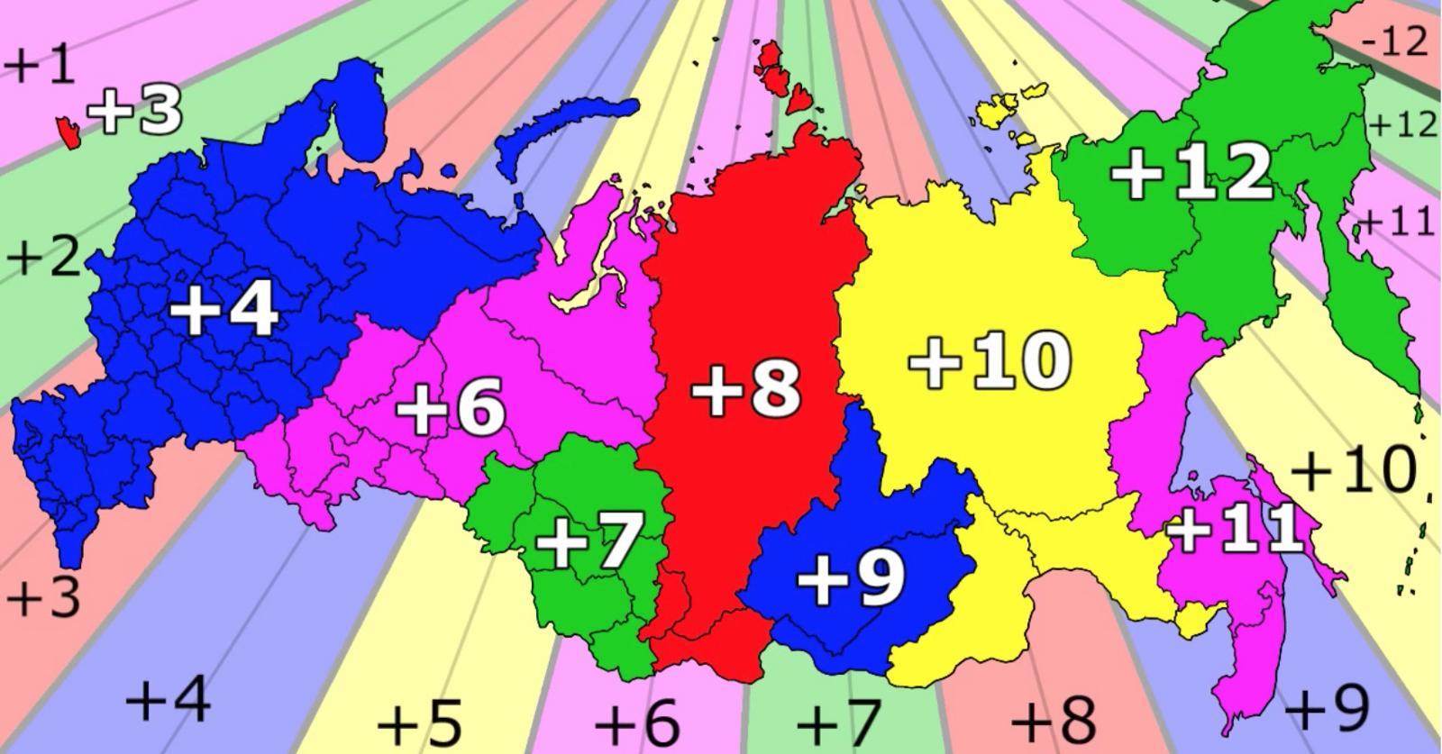 kart tidssoner Russland tidssone kart   tidssoner i Russland kart (Øst Europa  kart tidssoner