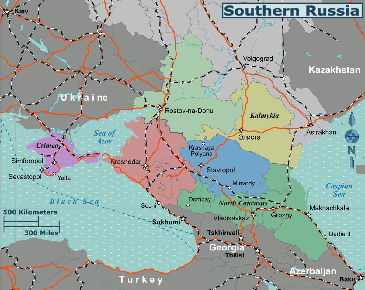 Sor Russland Kart Kart Over Sor Russland Ost Europa Europa