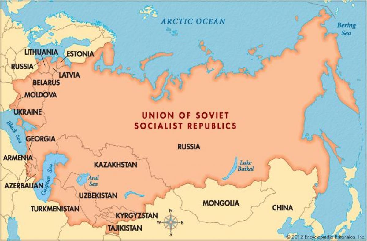 sovjetunionen kart Gamle kart over Sovjetunionen   Kart over den gamle Sovjetunionen  sovjetunionen kart