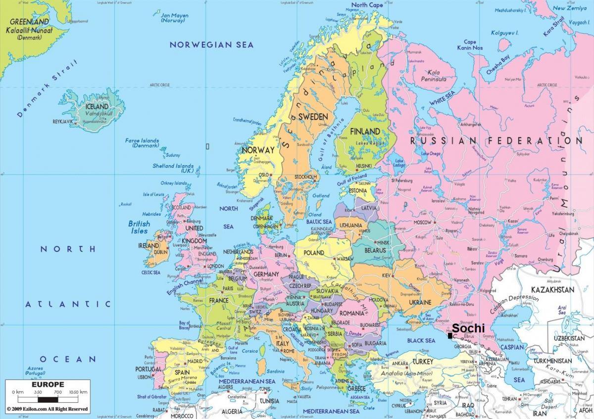 Land I Naerheten Russland Kart Kart Over Land I Naerheten Russland
