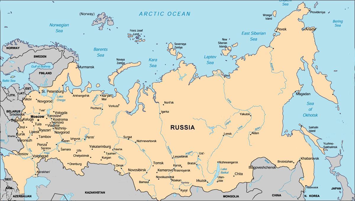 russland kart Russland området kart   Kart over Russland området (Øst Europa  russland kart
