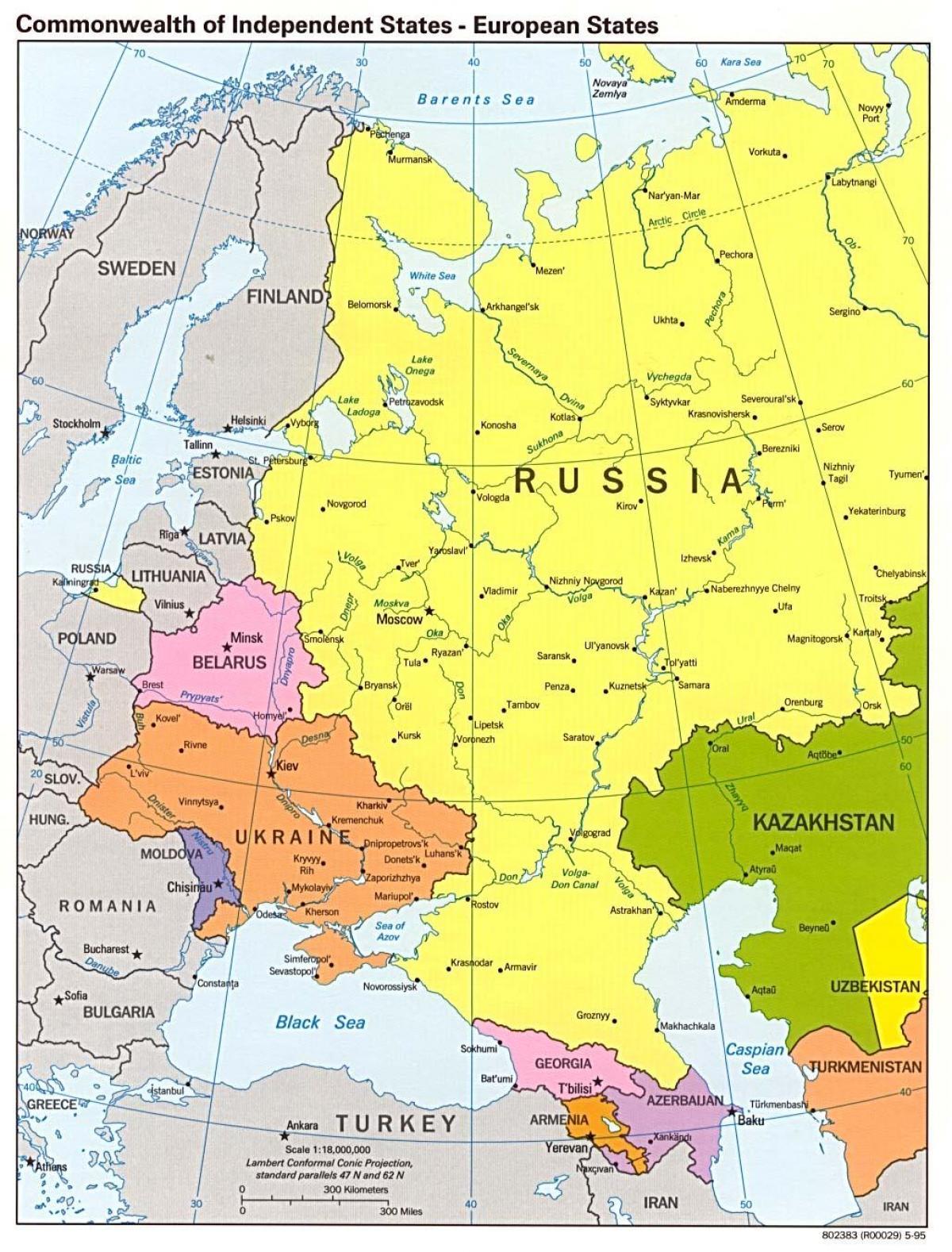 Vest Russland Kart Kart Over Vest Russland Ost Europa Europa